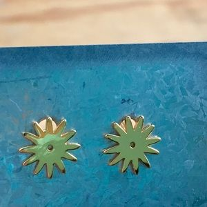 Retired Gold Gorjana Spur Stud Back Earrings